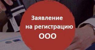zayavlenie na registratsiyu OOO